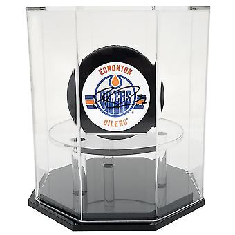OnDisplay Deluxe UV-geschützte Hockey Puck Display Case-Octagon Black Base