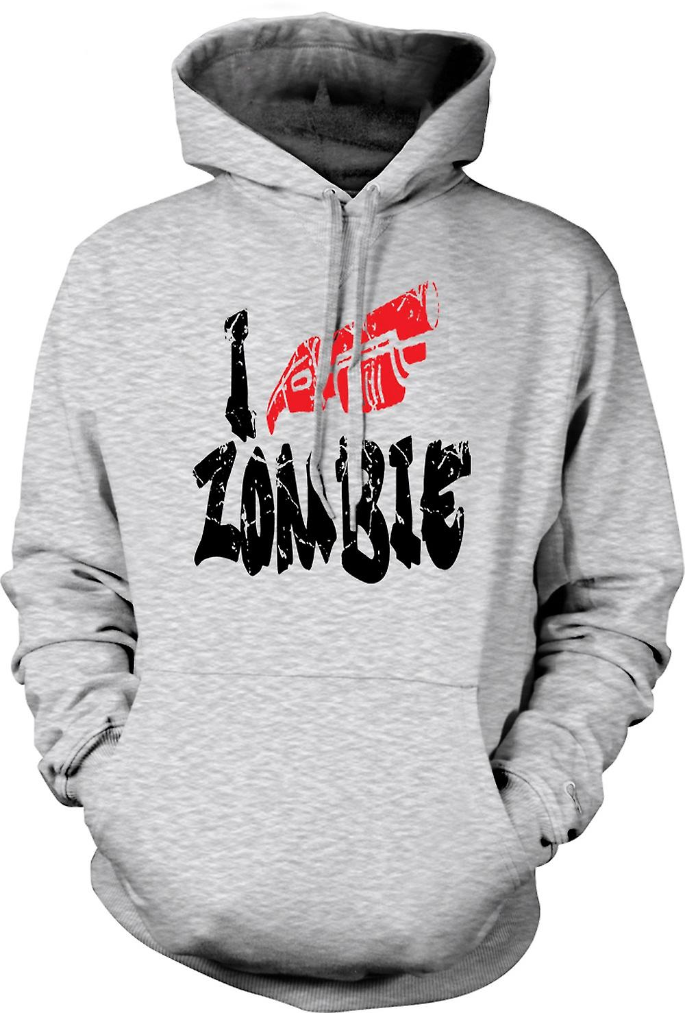 Mens Hoodie - I Shoot Zombies - Funny