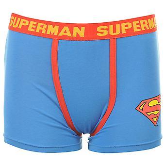 スーパーマンの子供幼児厚い伸縮性のあるウエスト バンド下着ボクサー パンツ ブルー