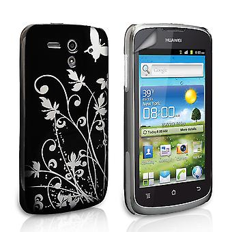 YouSave Accessories Huawei Ascend G300 Black Butterfly IMD Hard Case