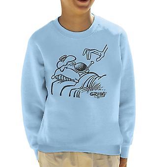 Grimmy Sick In Bed Kid's Sweatshirt