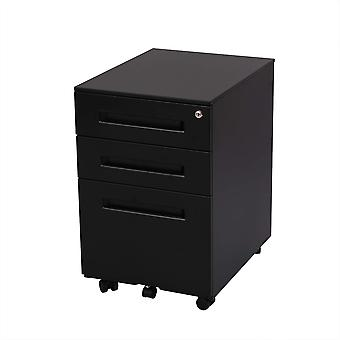 Flexispot File Cabinet Underdesk Mobile Pedestal Lockable Container 3-Drawer Cb31B