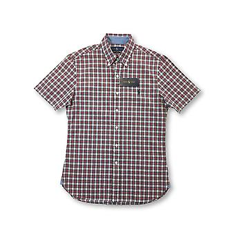 Ralph Lauren slim fit shirt in red/white tartan check