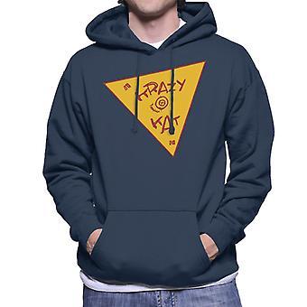 Krazy Kat Yellow Triangle Logo Men's Hooded Sweatshirt