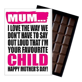 Funny Mother's Day Gift Boxed Chocolate Present Rude Greeting Card For Mom Mum Mumy MIYF112