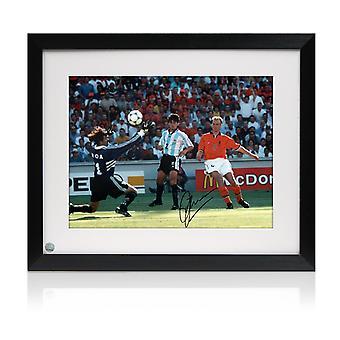 Ingelijste Dennis Bergkamp ondertekend Holland foto: Het doel Argentinië