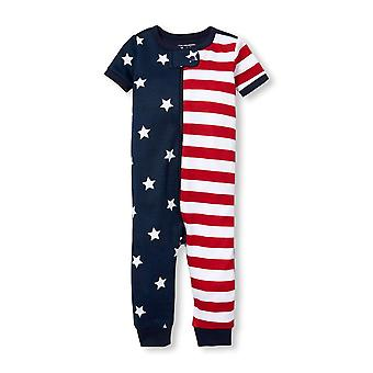 The Children's Place Baby Graphic Short Sleeve Americana, Tidal, Size 2T