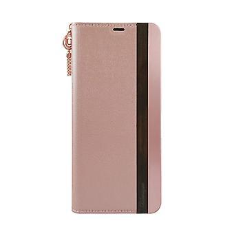 Samsung Galaxy S8 Case Wooden/Aluminium Pink Folio Hard Shell