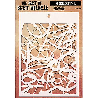 Brett Weldele Stencil Collection 6,5 « X4.5 »-gribouillis BWS-5