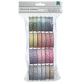 Value Pack Baker's Twine 5 Yards Spool 24 Pkg 12 Bright Colors 2 Each 366303