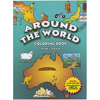 Dover Publications Around The World Coloring Book Dov 39839