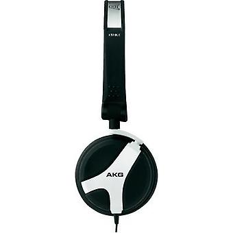 DJ Mono headset AKG Harman K 518 DJ WHT On-ear Tiltable ear pads Rubber black