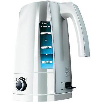 Kettle with manual temperature settings Melitta LOOK Aqua Vario ws-si White, Silver