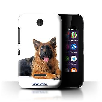 STUFF4 Case/Cover for Nokia Asha 230/German Shepherd/Dog Breeds