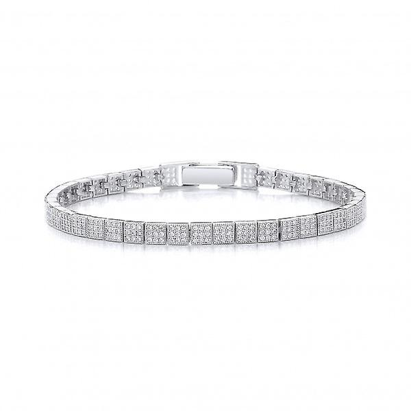 Cavendish French Sterling Silver and CZ Fine Tennis Bracelet