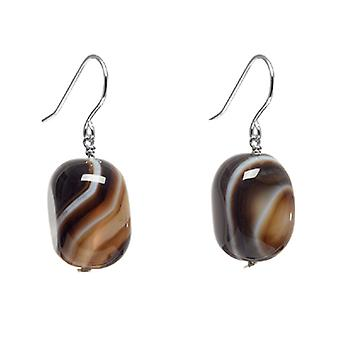Lola Rose Fin Earrings Chocolate Montana Agate
