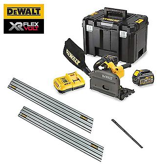 DeWALT DCS520T2-GB 54V XR FLEXVOLT Plunge Saw - 2 Guide Rails