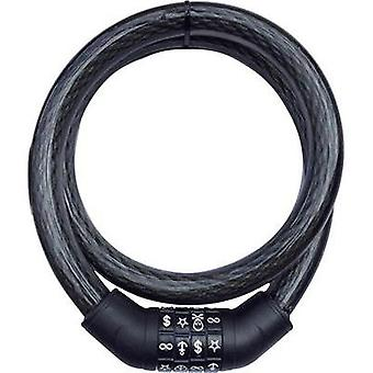 Steel cable lock Security Plus Black Symbol combination lock