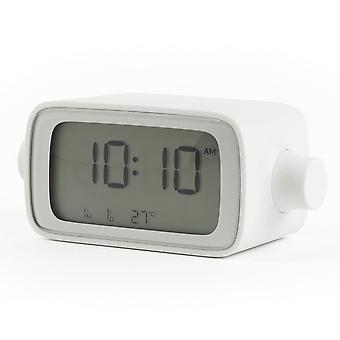 Lexon Dreamtime White Adjustable Volume Alarm Clock