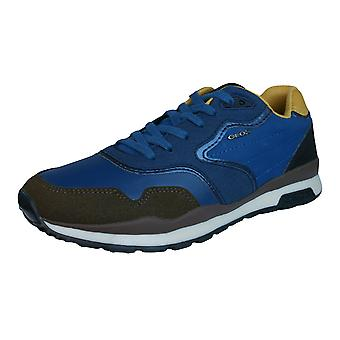 Geox J Pavel C Boys Trainers / Shoes - Blue