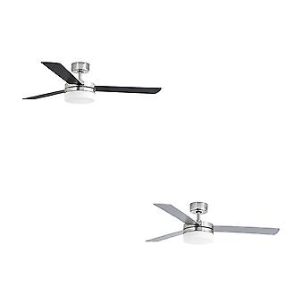"Faro ceiling fan Panay Nickel matt 122 cm / 48"" with lighting"