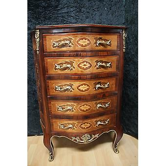 Chest of drawers baroque cabinet Louis xv antique style MkKm0042B