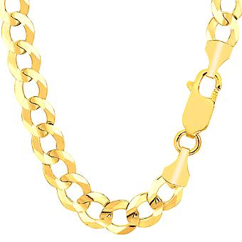 14k Yellow Gold Comfort Curb Chain, 10.0mm, 8.5