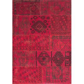 Bohemian Grenada Red Flat Square Rug - Louis De Poortere