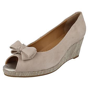 Ladies Van Dal Peep Toe Wedge Shoes Unity