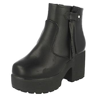 Girls Spot On Chunky 90's Style Ankle Boots H5049
