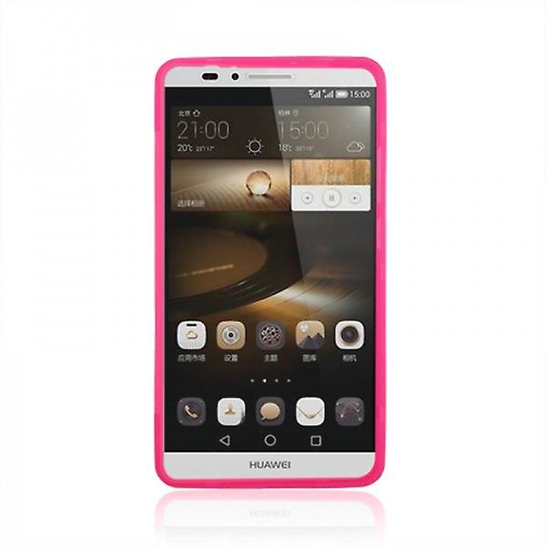 Design Cover with Front Cover Pink for Huawei Ascend Mate 7