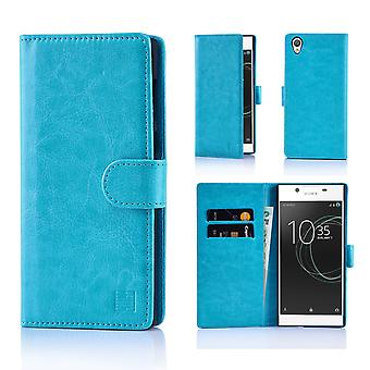 32nd Book Leather Wallet Case + stylus for Sony Xperia L1 - Light Blue