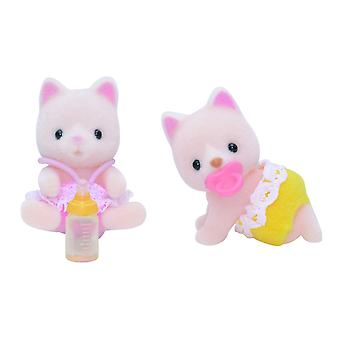 Sylvanian families Silk cat twins