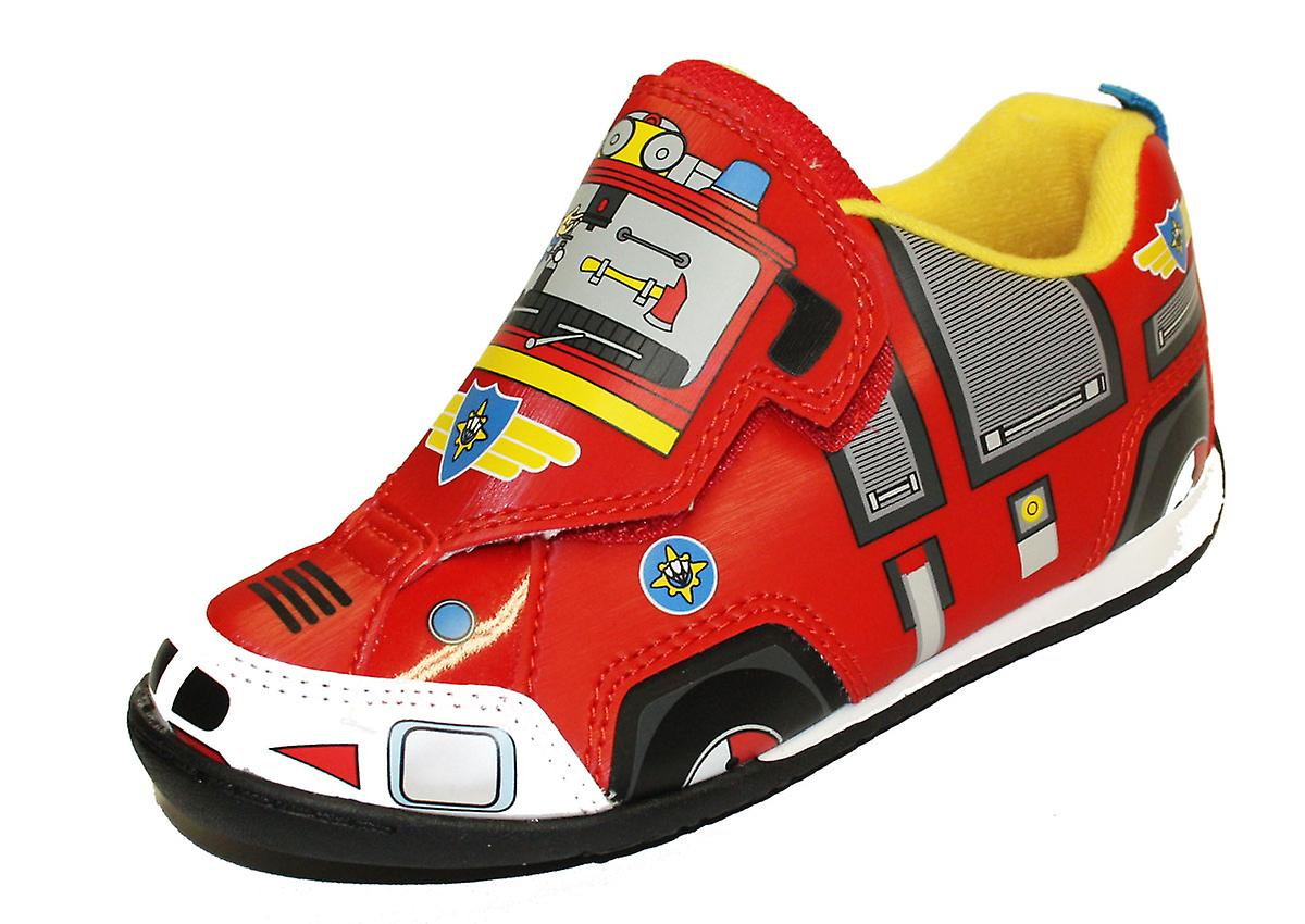 Boys Touch Fireman Sam Cartoon Character Touch Boys Panel Casual Trainer Shoe-62444 UK5 9f9764