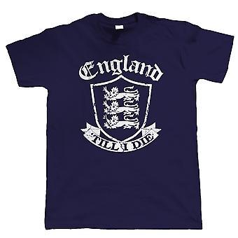 L'Angleterre jusqu'à ce je mourrai, Mens T-Shirt patriotique