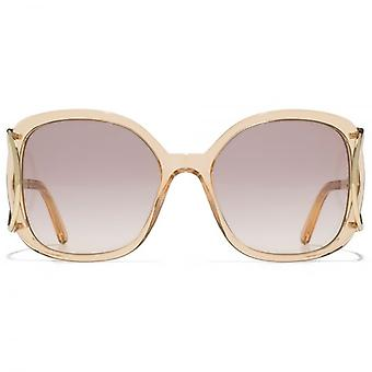 Chloe Jackson Square Racket Temple Sunglasses In Peach