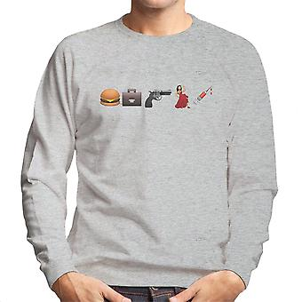 Emoji Pulp Fiction mænds Sweatshirt