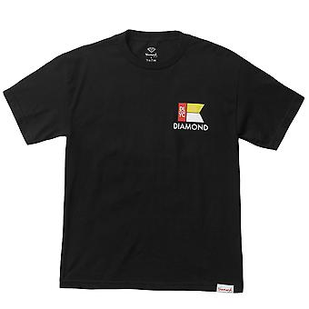 Diamond Supply Co Yacht Flag T-shirt Black