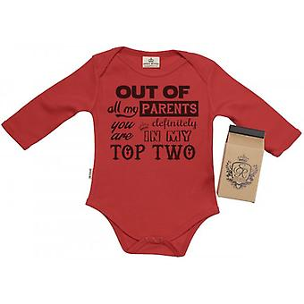 Spoilt Rotten Your In My Top Two! Baby Grow 100% Organic In Milk Carton