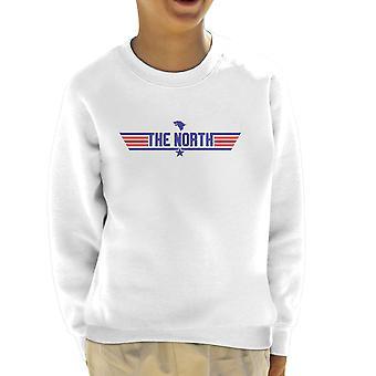 Top Gun Logo The North Game Of Thrones Kid's Sweatshirt