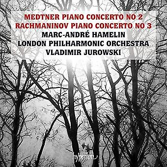 Medtner / Rachmaninov / Hamelin, Marc-Andre - Piano Concertos [CD] USA import
