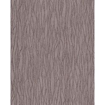 EDEM wallpaper stripes 122n-26 vinyl shaped tone on-tone and metallic effect brown beige 5.33 m2
