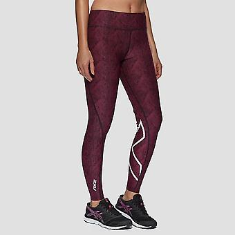 2XU mid Rise Print vrouwen compressie Tights