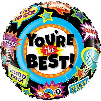 Qualatex 18 Inch Round Youre The Best Foil Congratulations Balloon