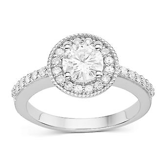 Forever Classic Round 6.0mm Moissanite Engagement Ring, 1.08cttw DEW