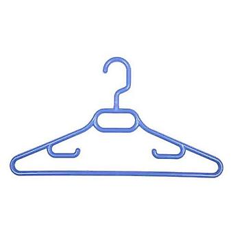 Caraselle 3x Childrens Blue Plastic Coat Hangers with Swivel Hook