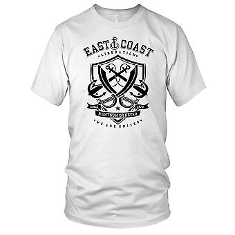 East Coast Sailing Navy Boat Ladies T Shirt