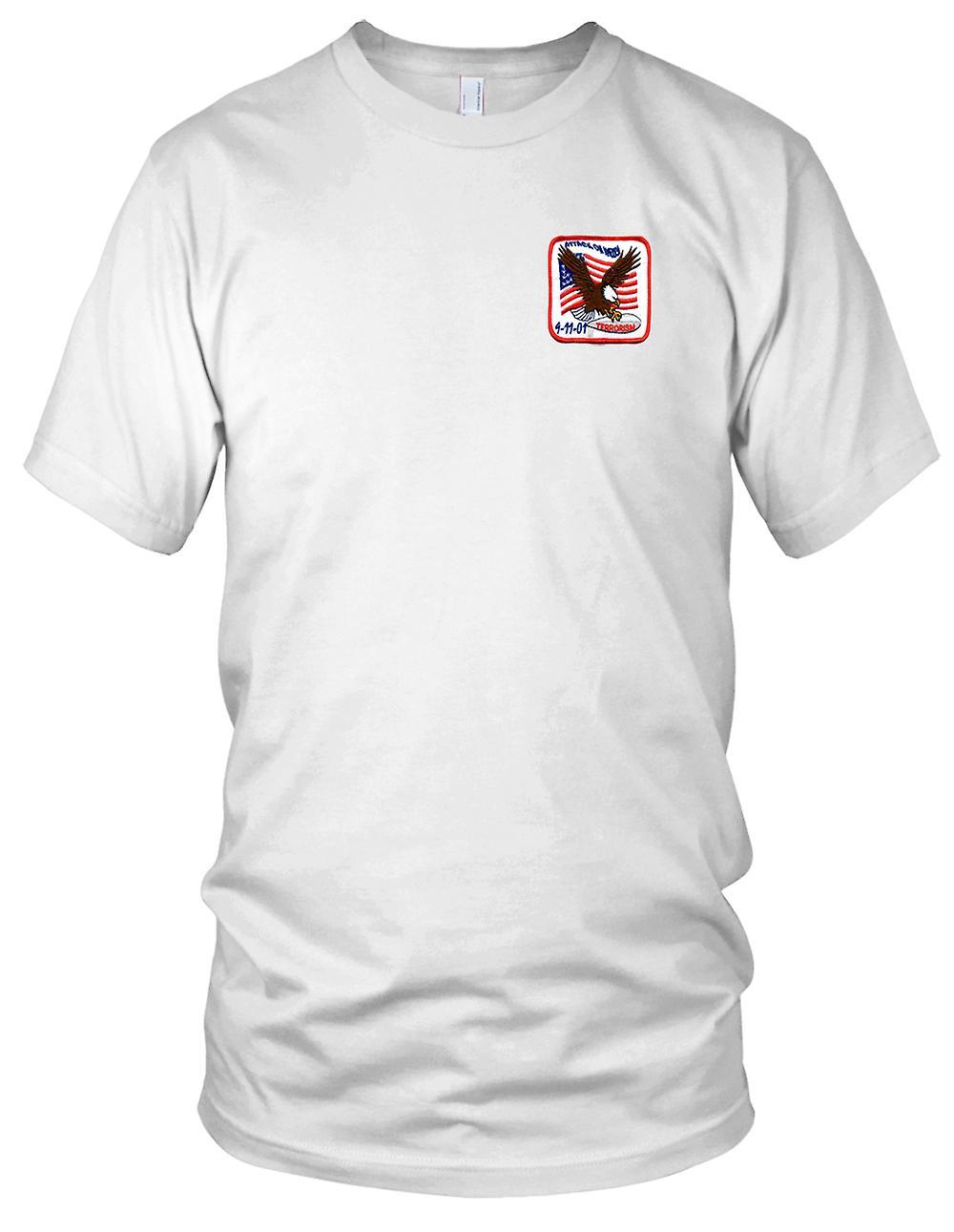 Angriff auf Amerika 11.09.01 Terror Flagge gestickt Patch - Kinder T Shirt