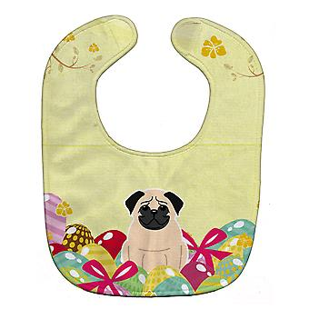 Carolines Treasures  BB6008BIB Easter Eggs Pug Fawn Baby Bib