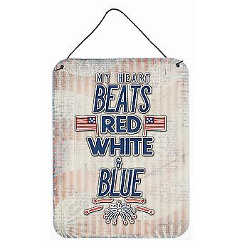 My Heart Beats Red White and Blue Wall or Door Hanging Prints